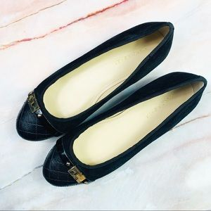 Marc Fisher Jodita Black Suede Ballet Flats
